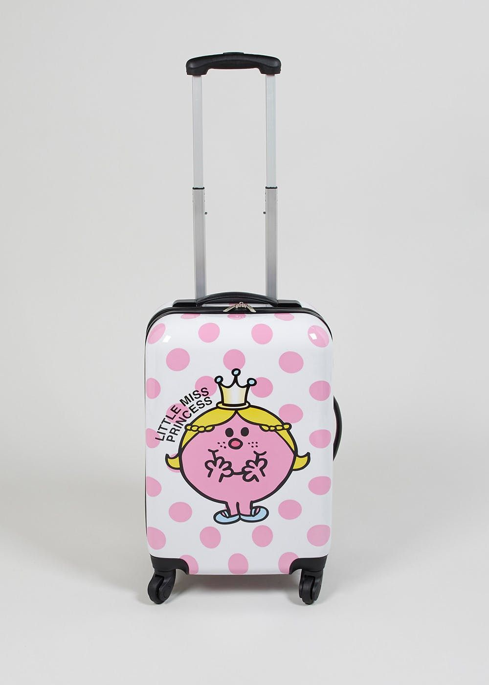 cdf51357bc4 White cabin case with all over pink spotted print and Little Miss Princess  print. Unfortunately