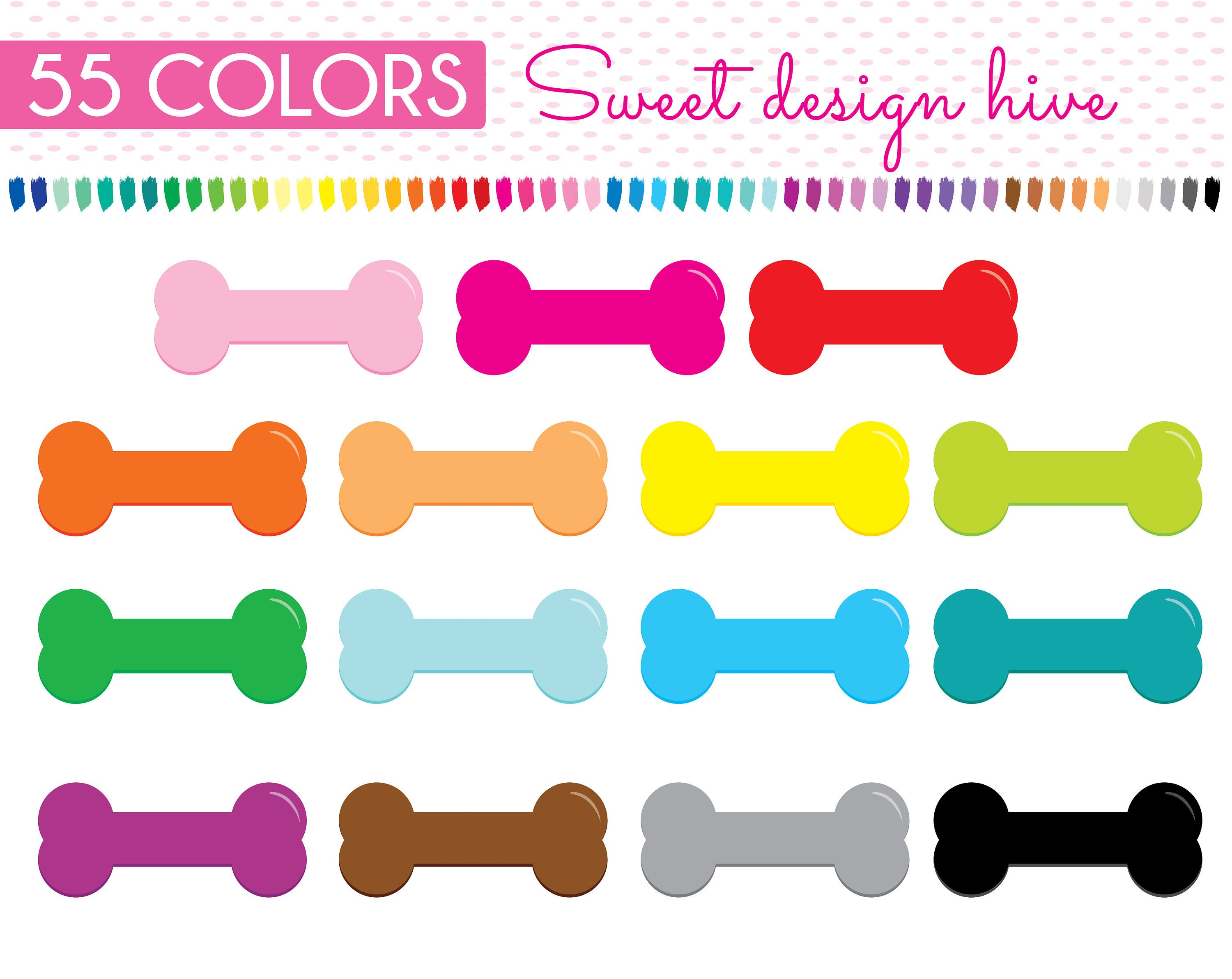 dog bone clipart dog food puppy toy pet rainbow planner stickers graphics sticker clipart planner clipart commercial use pl0087 by sweetdesignhive  [ 3000 x 2384 Pixel ]