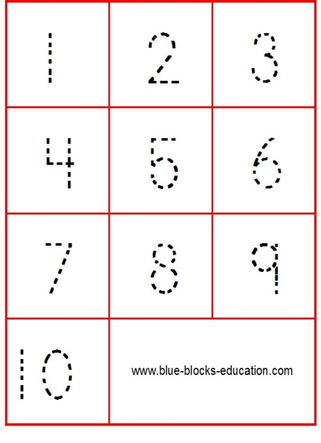 Printable Worksheets kindergarten number worksheets 1-10 : Tracing numbers 1 to 10 - Flash card games | Math | Pinterest ...