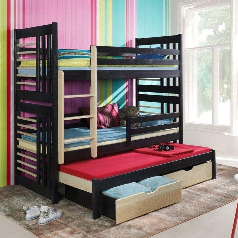 Lit enfant superpos roland iii avec lit gigogne 3 - Lit superpose avec lit gigogne ...