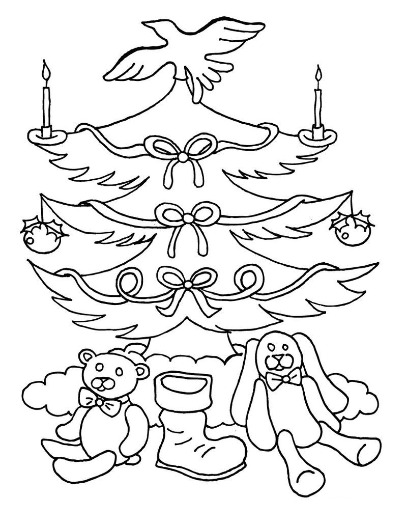 Blank Christmas Tree Coloring Pages See the category to ...