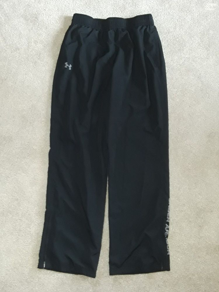 234d46f67504 Under Armour black mesh-lined pants ankle zips mens L EUC  fashion   clothing  shoes  accessories  mensclothing  activewear (ebay link)