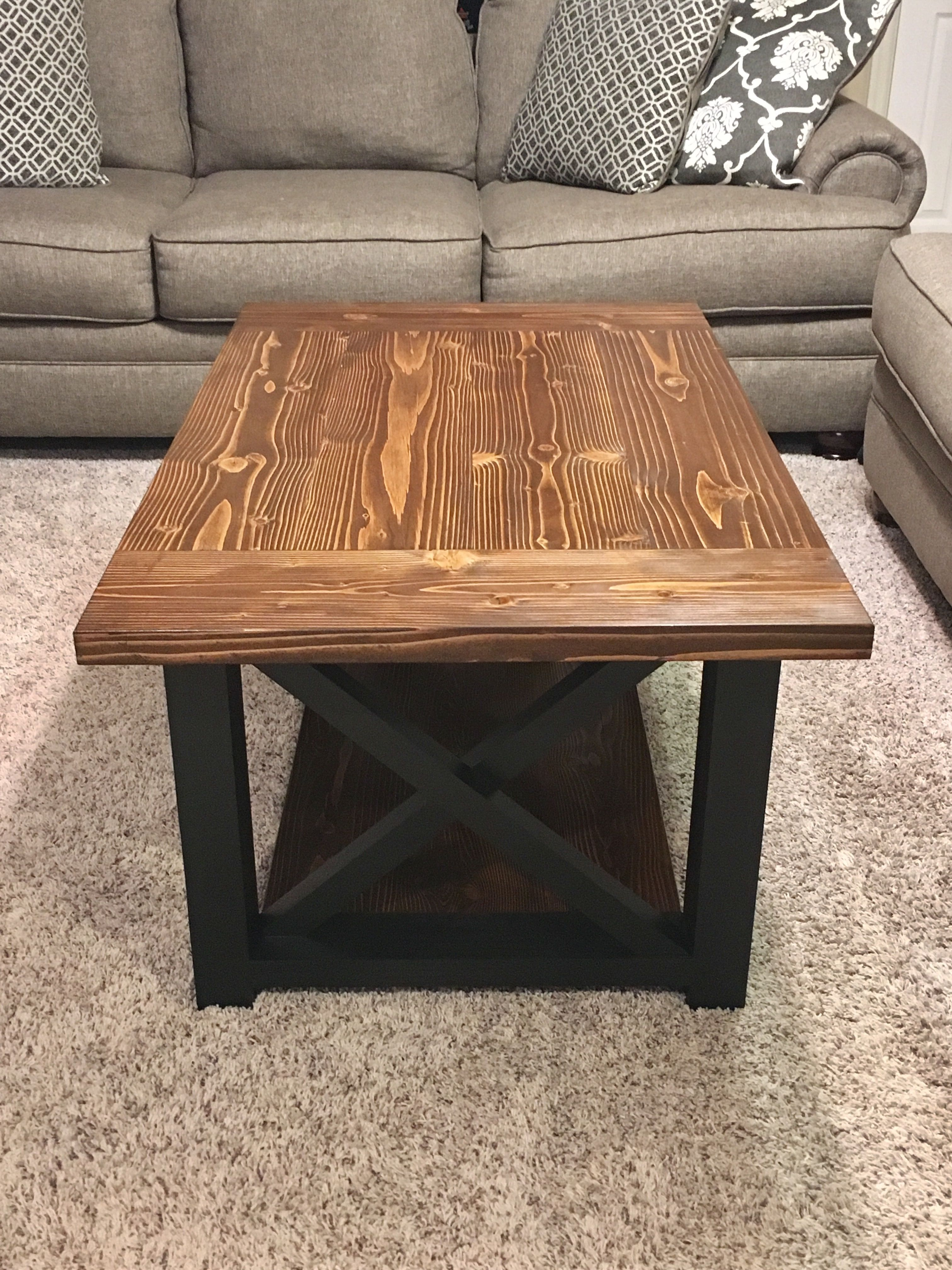 Superieur X Frame Coffee Table #farmhouse #rustic #coffeetable #madeinmichigan  #veteranowned #