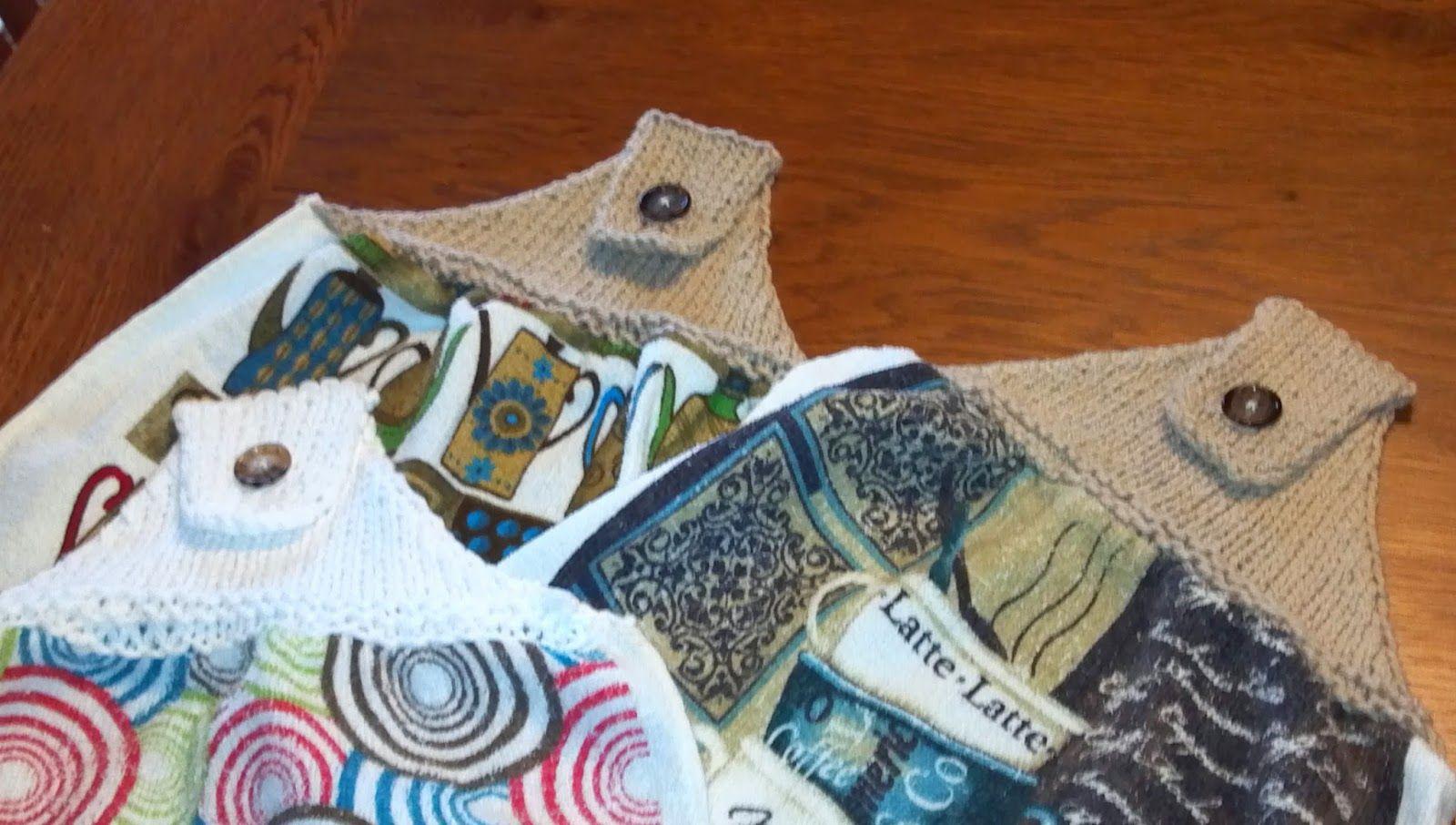 Kriskrafter: Knitted Towel Topper - Free Pattern!   kitchen stuff ...
