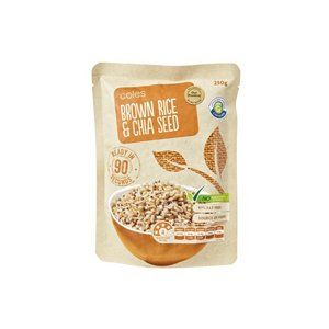 Coles Brown Rice Chia Seed Microwave Pouch Glycemic Index Foundation Brown Rice Rice Snacks