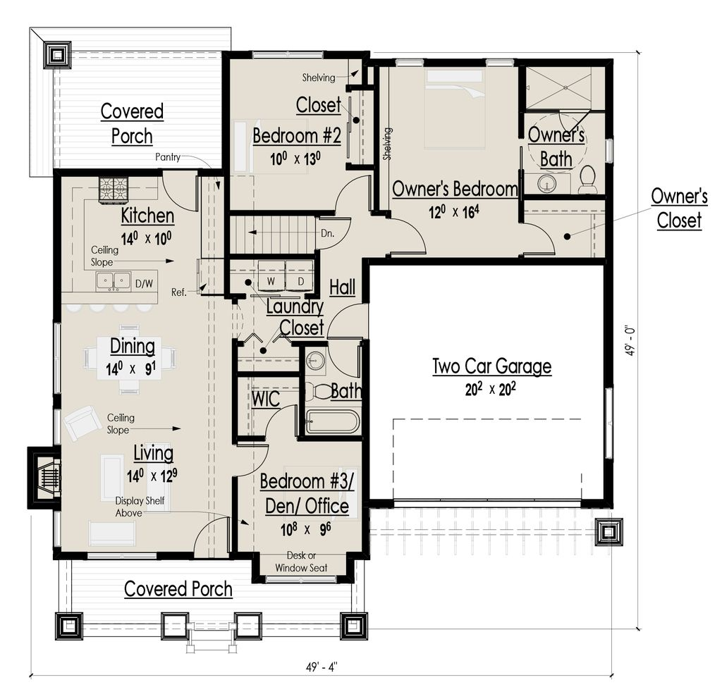 Craftsman main floor plan plan 444 36 for Houseplans com craftsman
