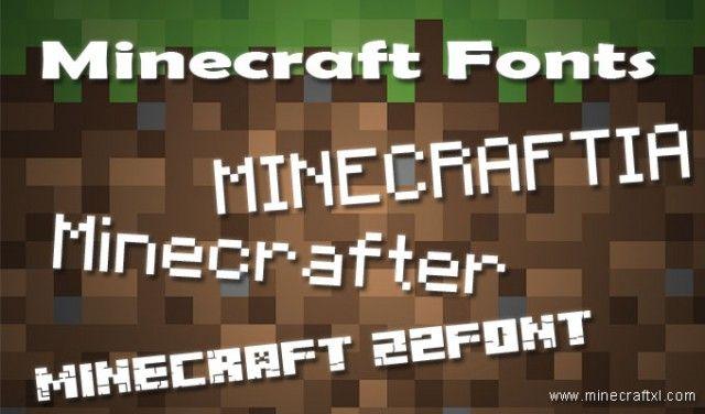 Top 3 Best Minecraft Fonts | Minecraft Mania | Pinterest | Fonts ...