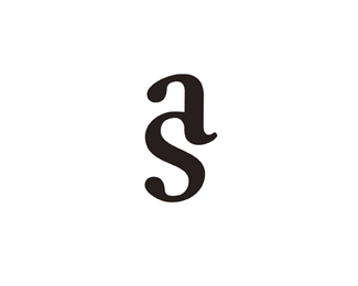a s monogram two letters joined together deconstructed s logo design lettering design