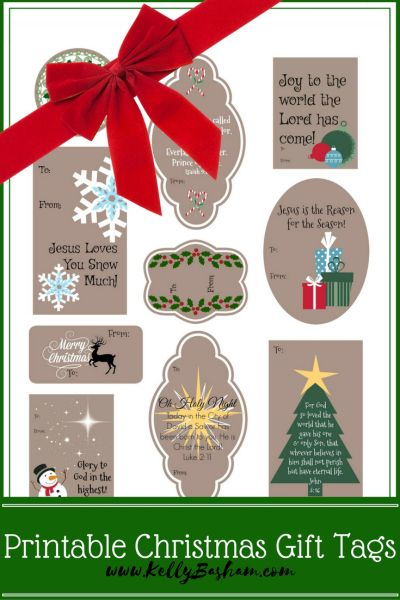 This is a picture of Free Printable Christmas Gift Tags intended for rectangle