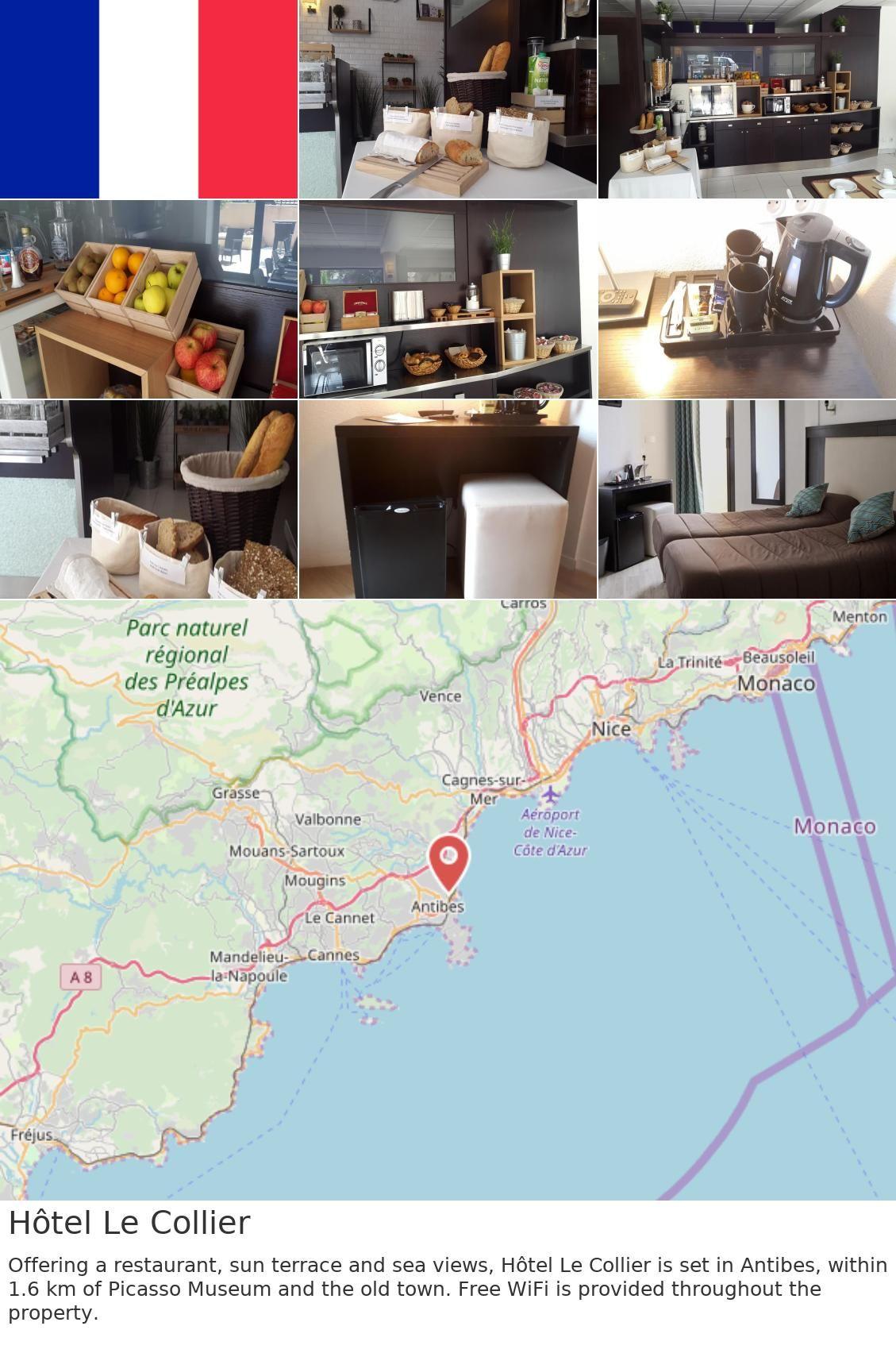 pas de taxe de vente large choix de couleurs haute couture Hôtel Le Collier | France in 2019 | Antibes, Terrace, Free wifi