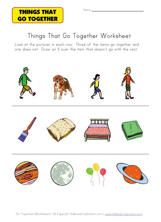 thing that doesnt go together worksheet – Speech Therapy Worksheets