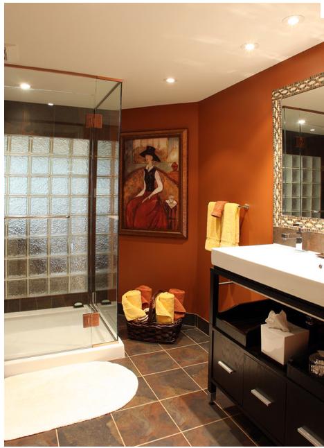 Burnt Orange Bathroom Orange Bathrooms Orange Bathroom Decor Brown Bathroom Decor