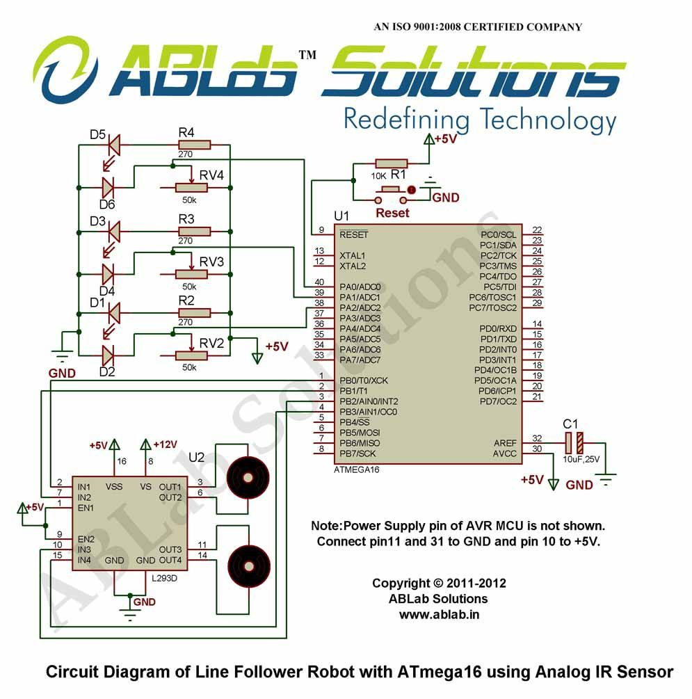 Learn how to make an Line Follower Robot with AVR ATmega16