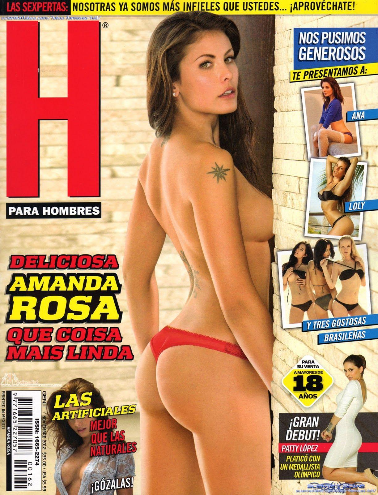 Amanda Rosa Revista amanda rosa en la revista h para hombres noviembre 2012   h