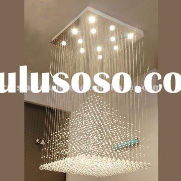 square contemporary crystal ball hanging pendant lampmodern chandelier crystal lightingoptic fiber chandeliers and pendant lighting