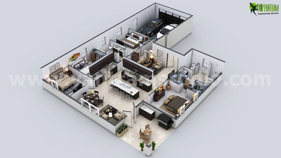 Modern House 3d Floor Plan Ideas For Your Property Floor Plan Design Home Design Floor Plans Contemporary House Design