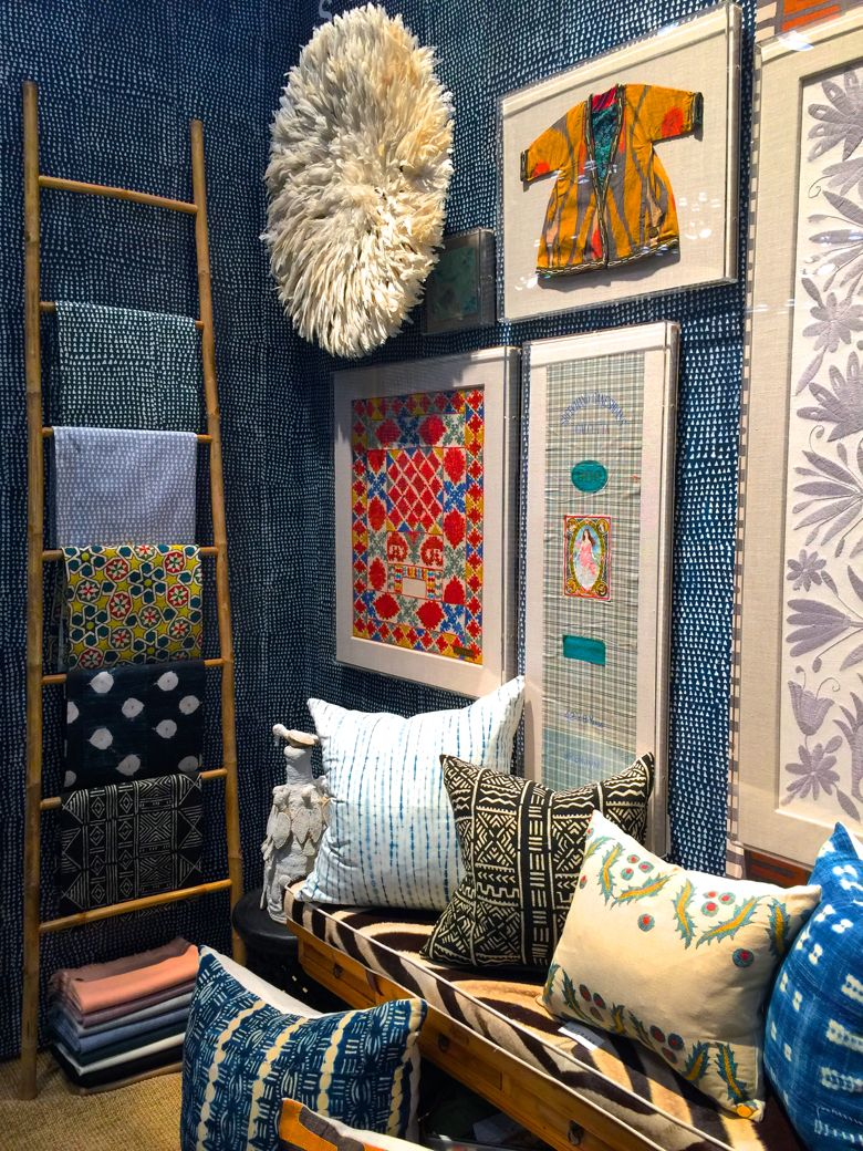 ICFF2016-St Frank Booth featuring their textiles, wall decor and pillows