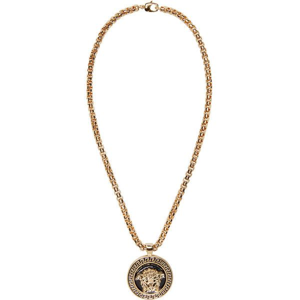 MENS NEW HIP HOP GOLD MEDALLION DOG TAG PENDANT BOX CHAIN NECKLACE