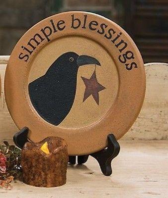 Decorative Crow Plate - Primitive - Country - Home Decor & Decorative Crow Plate - Primitive - Country - Home Decor ...