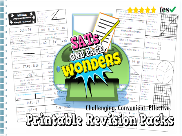 SATs Maths Revision Pack KS2 - \