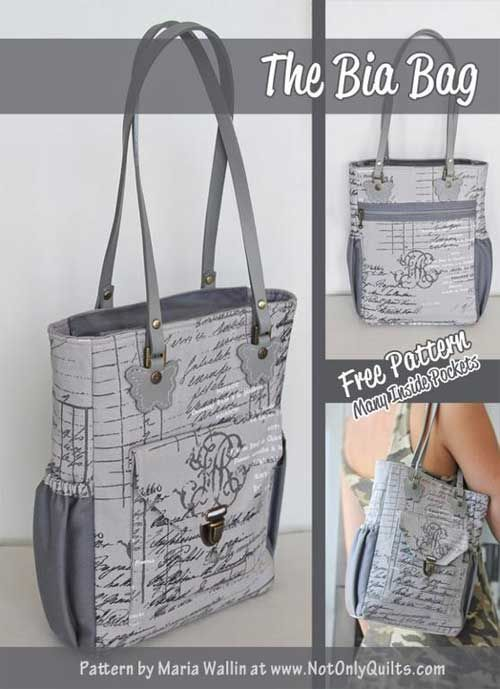 The Bia Bag - Free Sewing Pattern | Taschen nähen, Diy tasche und Nähen
