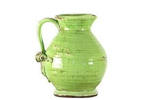 green clay pitcher $79