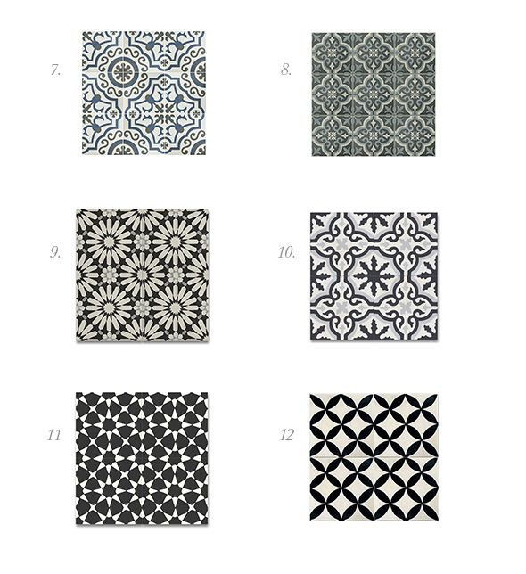 Spanish Inspired Cement And Patterned Tile Round Up Modern
