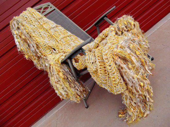 Yellow Blanket Gold Yellow Throw Blanket Fringe Golden Yellow Home