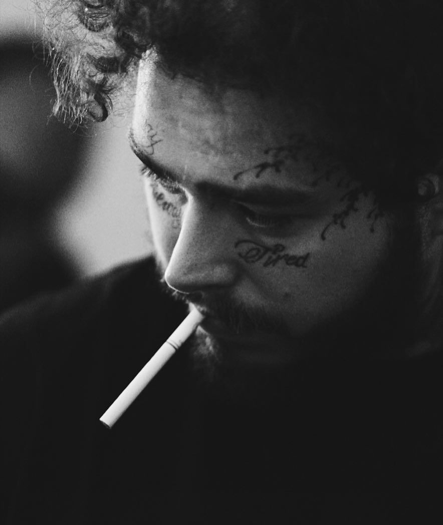 POST MALONE . . . Photo by Adam Degross . . .  #postmalone #beerbongsandbentleys #stoney #postmalonewallpaper