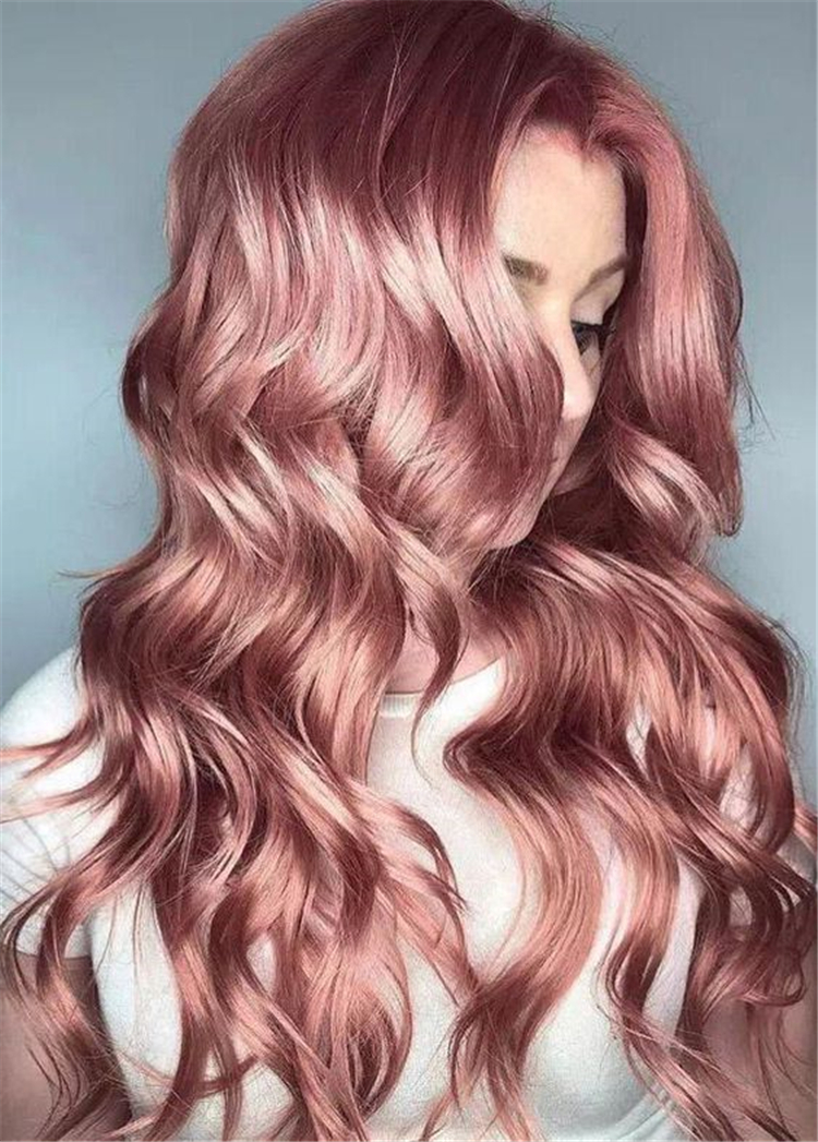 50 Pretty And Stunning Rose Gold Hair Color Hairstyles For Your Inspiration Women Fashion Lifestyle Blog Shinecoco Com In 2020 Hair Styles Long Hair Styles Hair Color Rose Gold