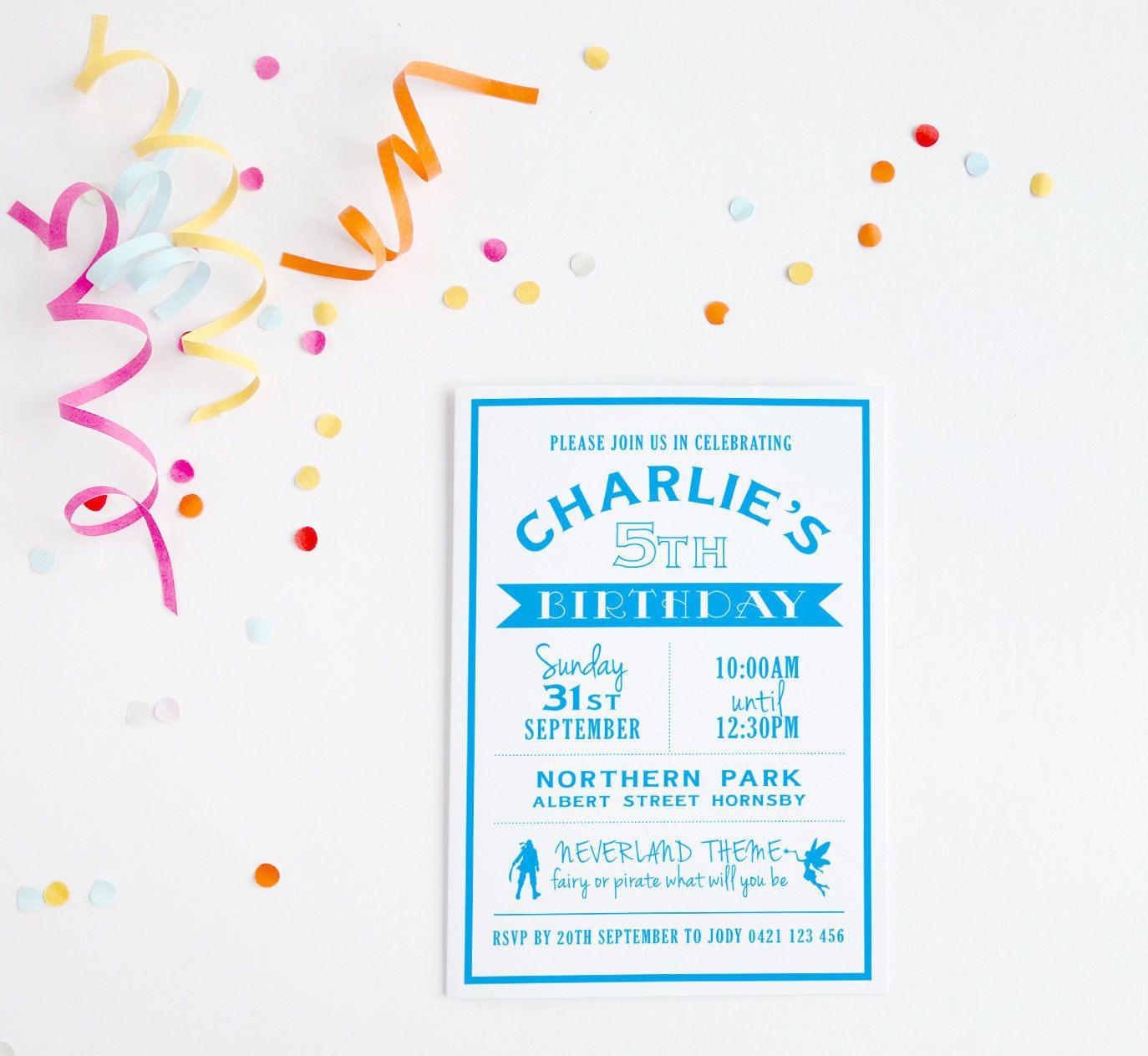 Pirate Party ~ Fairy Birthday ~ Pirate Fairy ~ Birthday Invitation ...