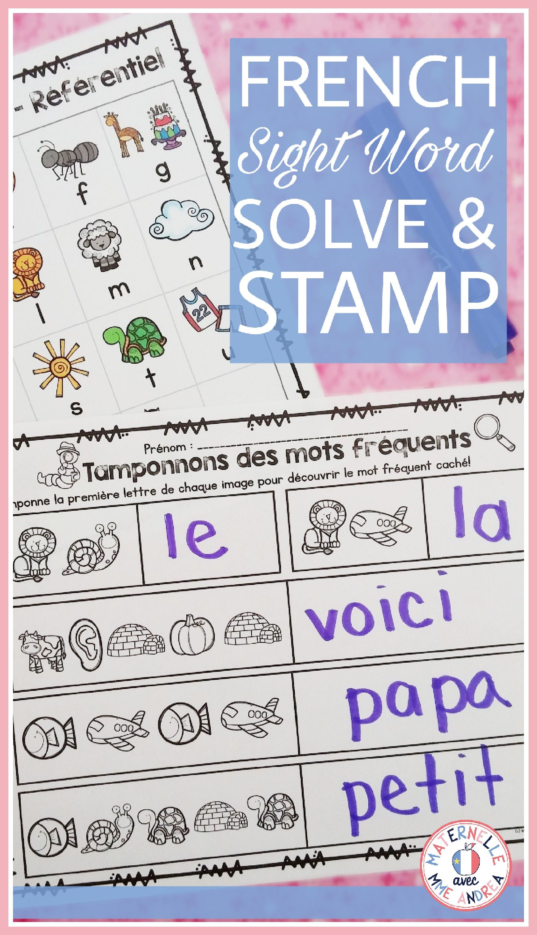 Mots Mysterieux French Solve Amp Stamp Sight Words
