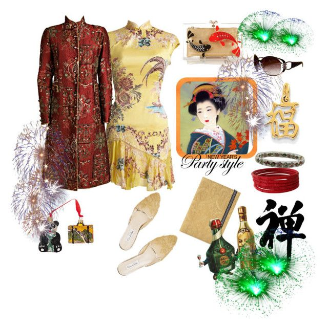 """""""Chinese New Year- vintage look"""" by juliabachmann ❤ liked on Polyvore featuring мода, Roberto Cavalli, Nordstrom, Christian Lacroix, Oscar de la Renta, Charlotte Olympia, Kevin Jewelers и vintage"""