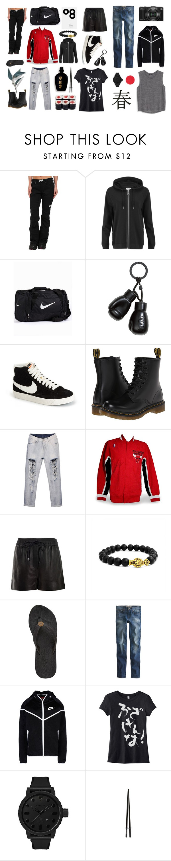 """Aito Yukimura 「幸村 愛人」"" by laura-laakkonen ❤ liked on Polyvore featuring NIKE, Zoe Karssen, H&M, Dr. Martens, Steiner Sports, Alexander Wang, Acne Studios, Bling Jewelry, Reef and Point Sur"