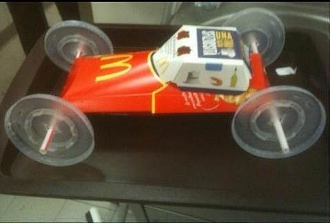 Make A Fast Food Pinewood Derby Car
