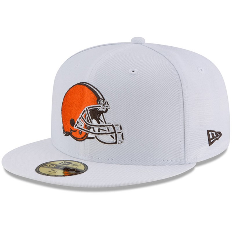 meet 760e1 de9a0 Cleveland Browns New Era Omaha 59FIFTY Fitted Hat - White