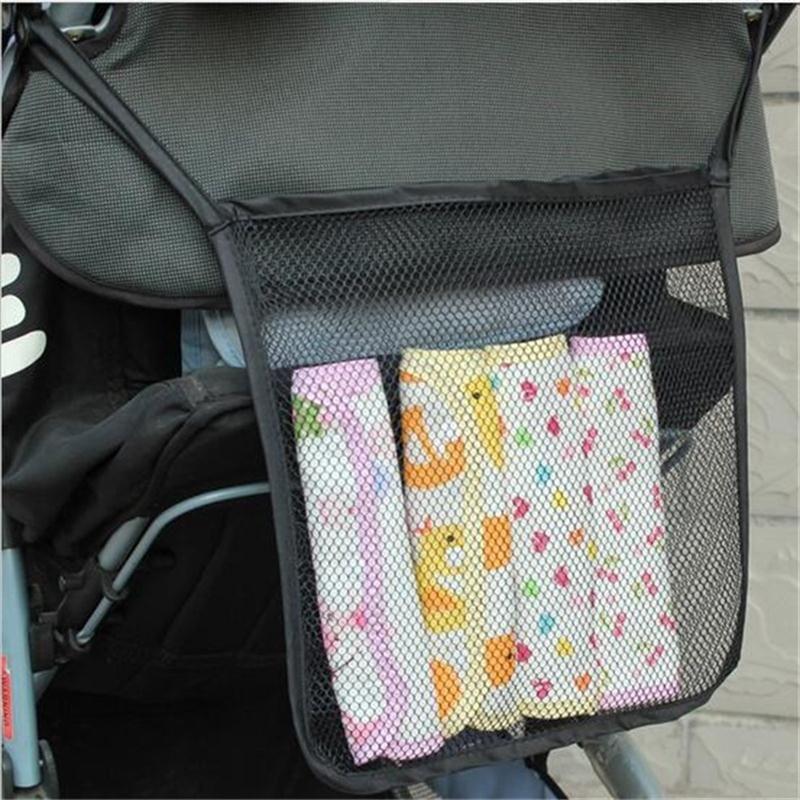 High Quality Baby Stroller Pram Mesh Hanging Bag Net Bag Universal Bags