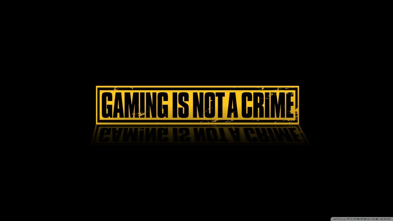 Gaming Is Not A Crime HD desktop wallpaper High Definition