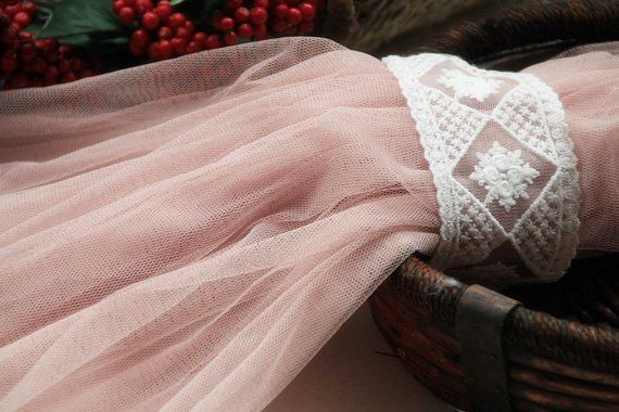 Flesh Pink Lace Fabric Mesh Gauze Mesh Lace for Home Decor | Etsy