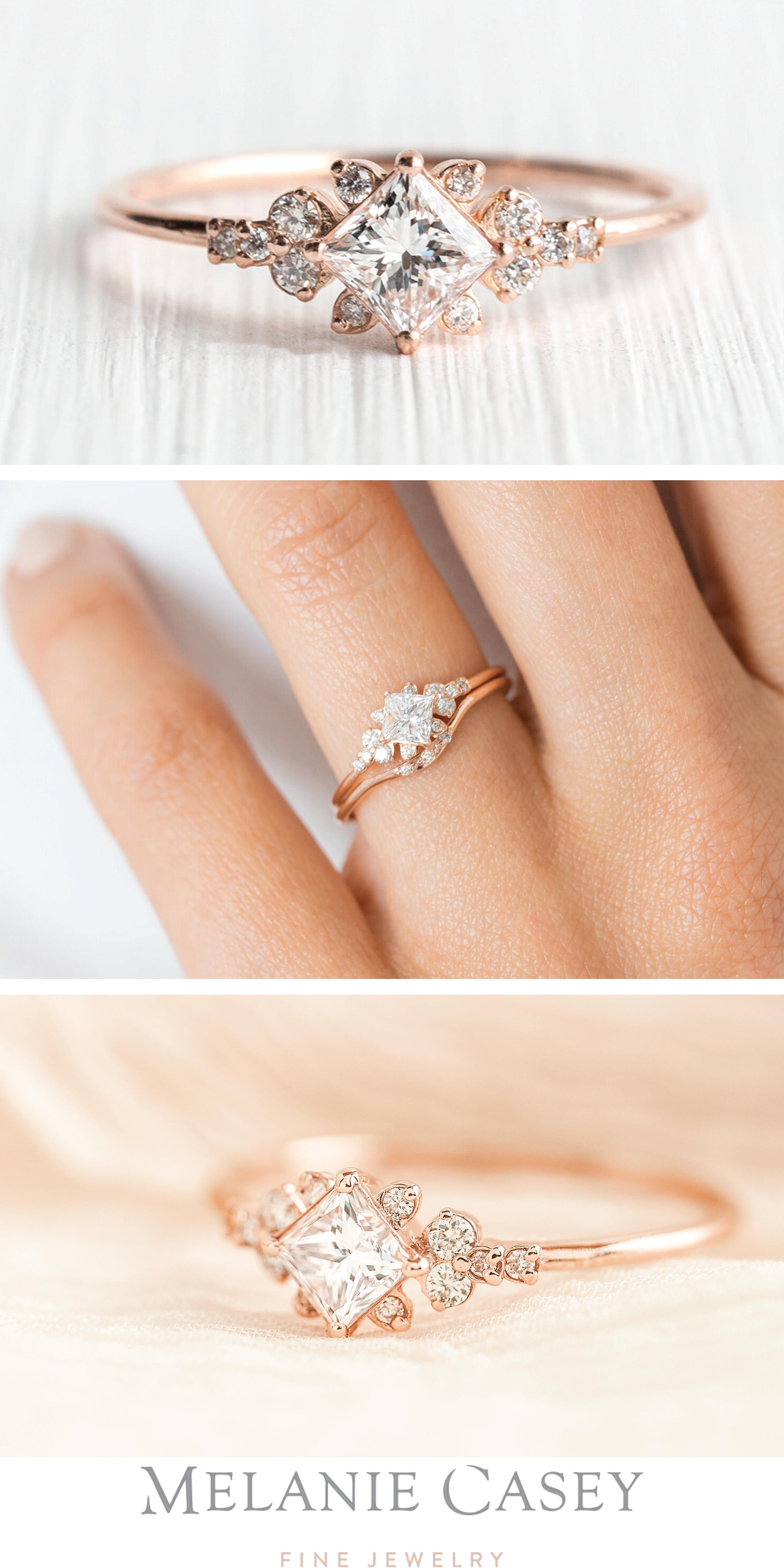 Stargaze Ring, 0.3ct. Princess Cut Diamond