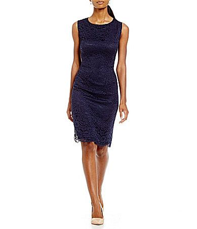 4d96d35f916 Preston and York Jackie Lace Sheath Dress  Dillards