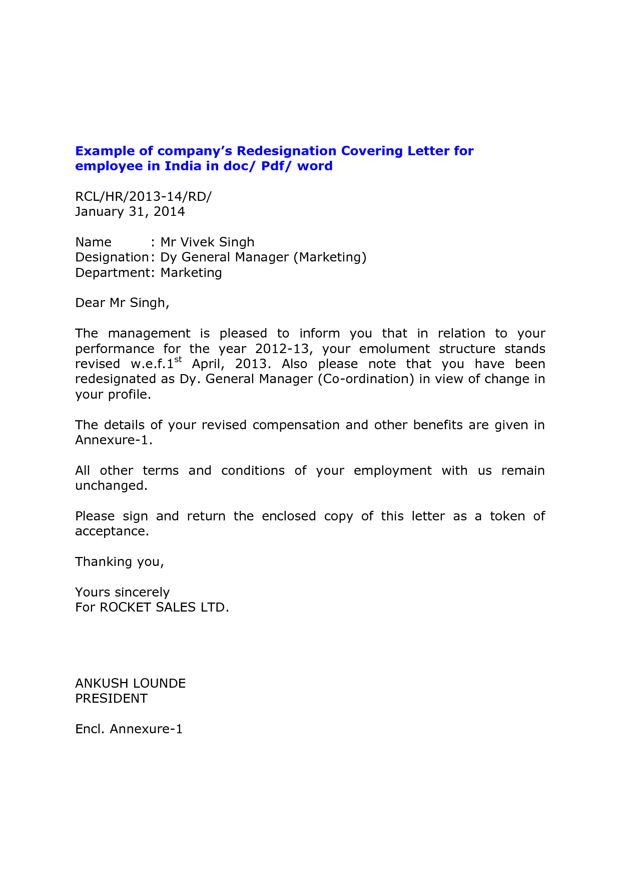 Formal letter format of resignation – Resign Letter Word Format