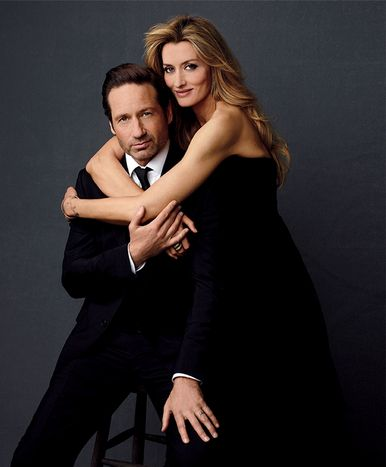 David Duchovny & Natascha McElhone Los Angeles Confidential September 2012
