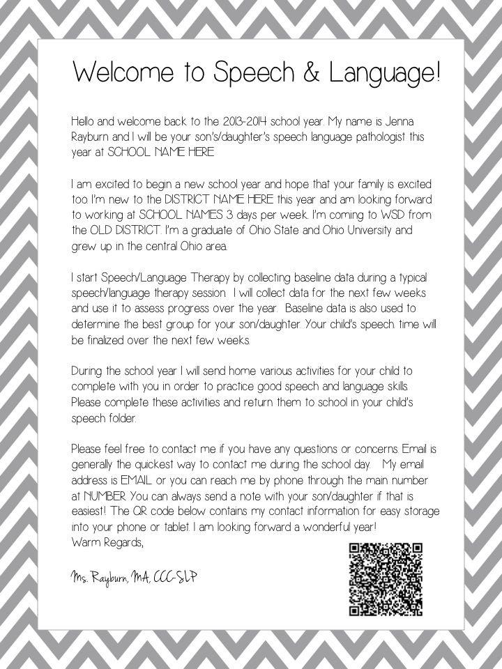 slp 101  welcome letters attendance  billing