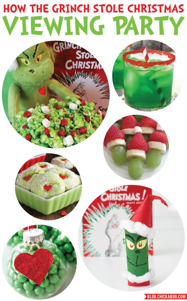 Grinch Viewing Party Ideas Chickabug Grinch Party Grinch Christmas Party Kids Christmas Party