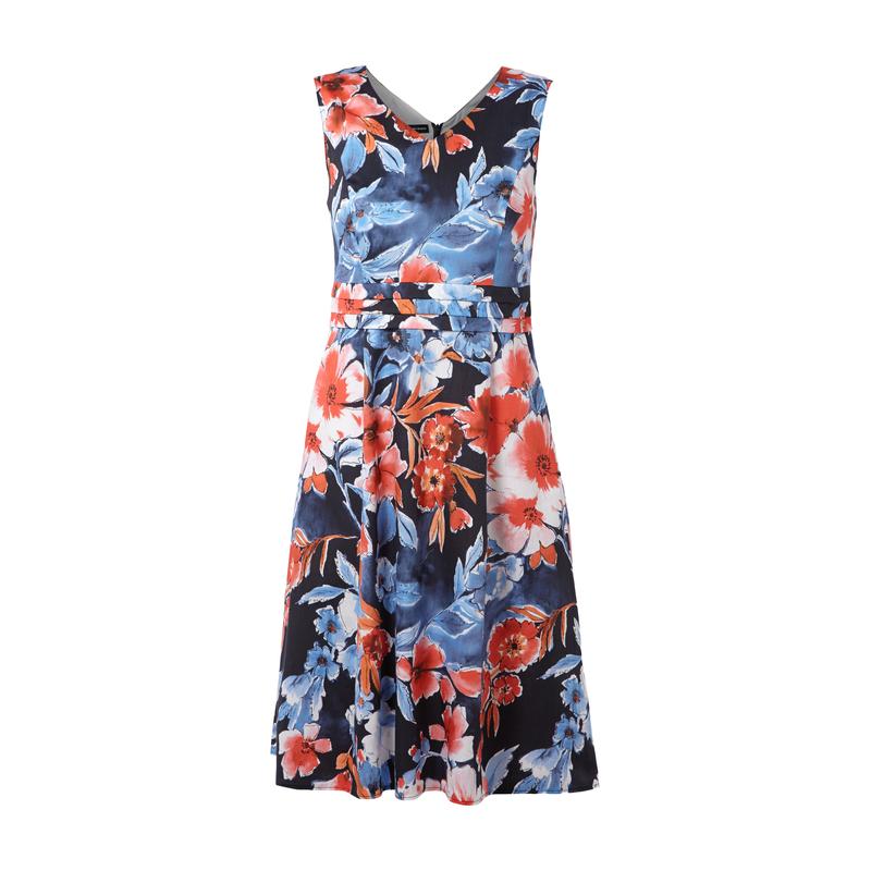 Gerry Weber Kleid Aus Baumwolle Mit Floralem Muster Fashion