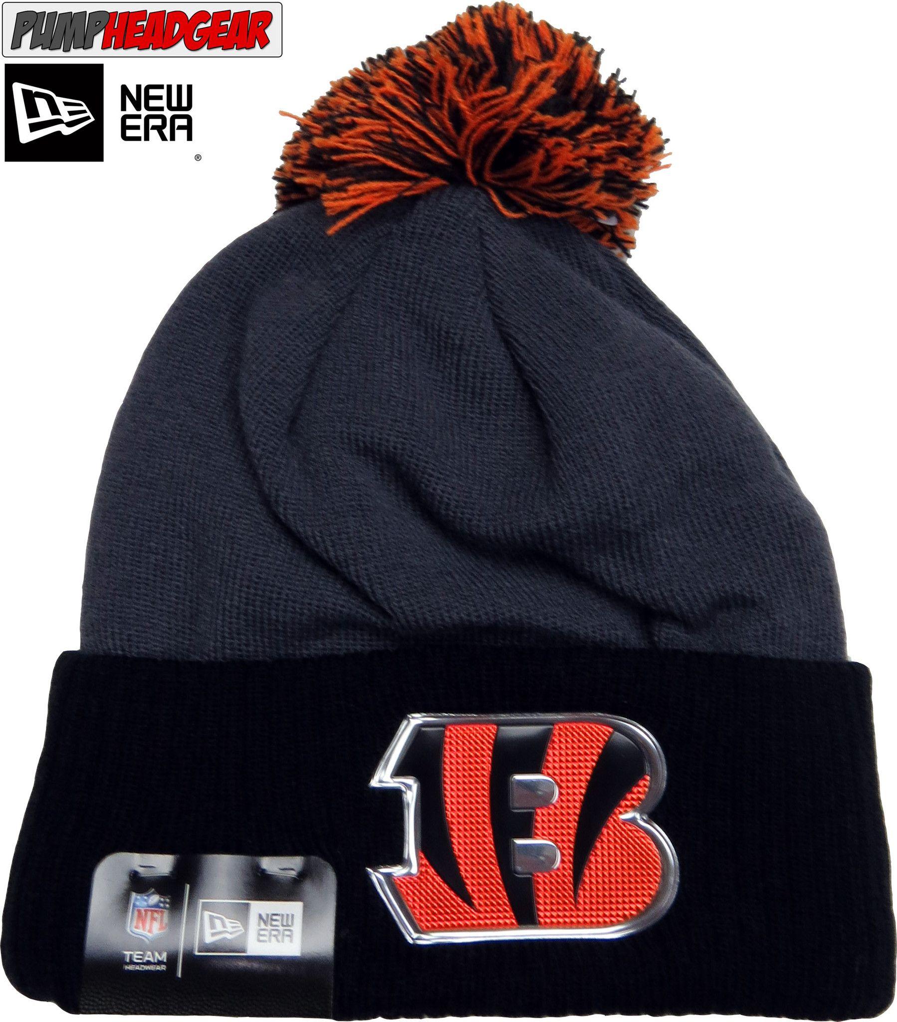 Cincinnati Bengals New Era NFL Liquid Logo Knit Bobble Hat  b6151275f