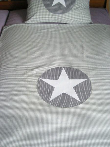 Bettwäsche Vichy Karo Grau Mit Stern Sterne Bett Bettwäsche Und