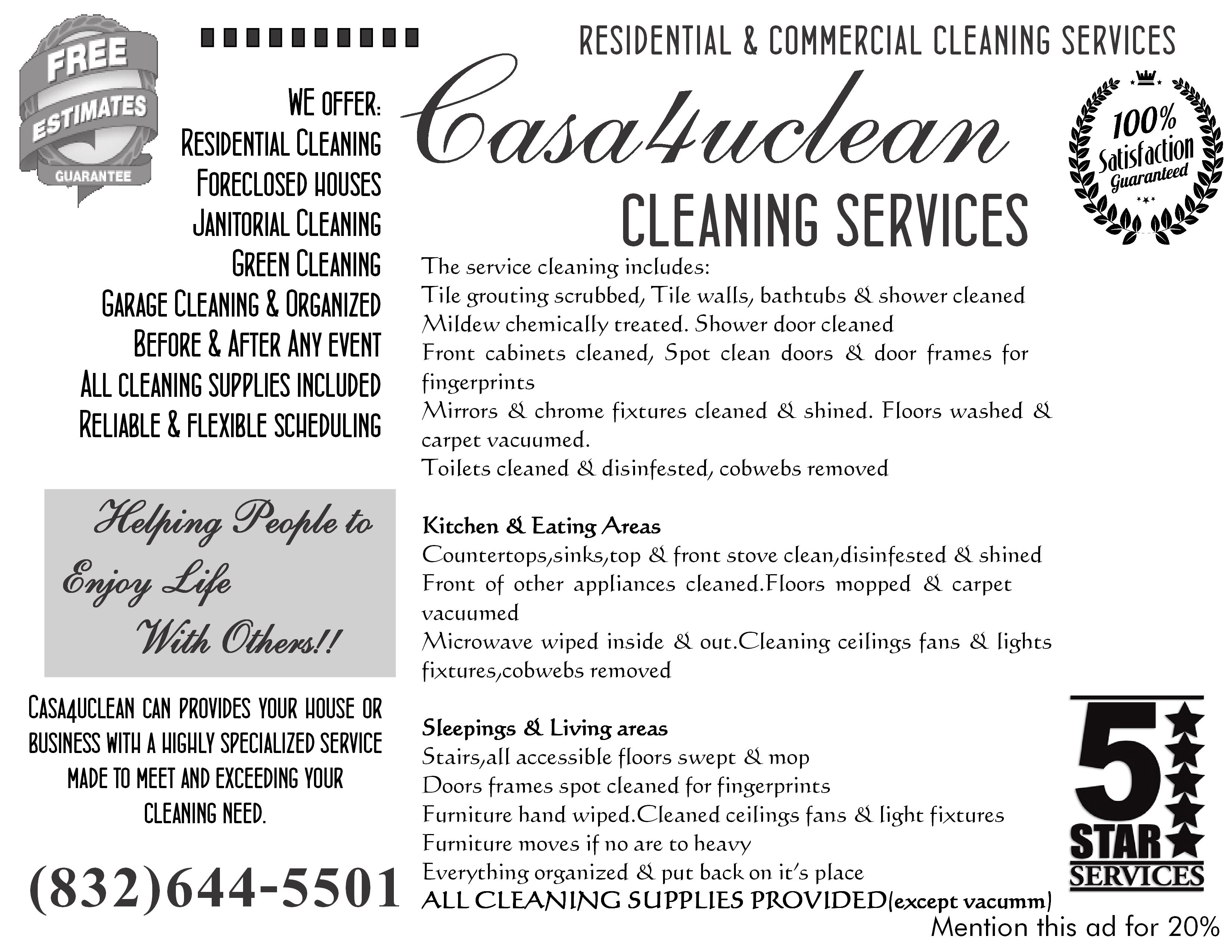 Casa4uclean Flyer B Out Soon