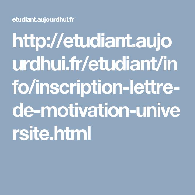 Lettre De Motivation Pour Universite: Lettre De Motivation Pour L'université
